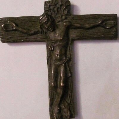 Crucifix cross SPLENDID NOVEL quite old great details bronze