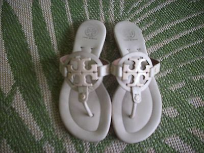 Tory Burch Miller Sand Leather Thong Sandals Flip-Flop Size 6.5 M