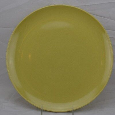 """Russel Wright Iroquois Avocado Yellow Round Chop Plate 13 3/8"""" in Diameter"""