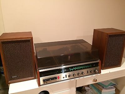 Vintage Sony HP-219 stereo system turntable record player cassette excellent!!