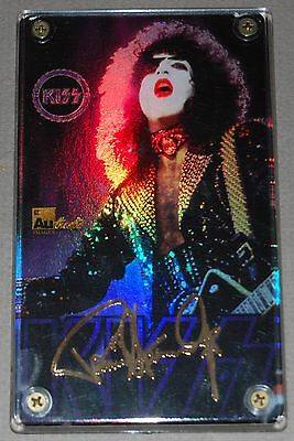 KISS PAUL STANLEY 24kt Gold Signature Card Ltd Ed 1999 Made in Japan
