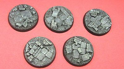 Painted  40mm Resin Bases Rubble Scenery Bolt Action 40k Terminator Storm Claw