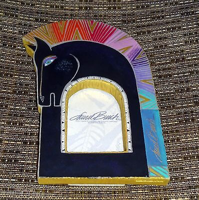 """NEW Laurel Burch Equine Horse Picture Frame Rainbow Fits 3 1/4"""" X 4"""" Picture"""
