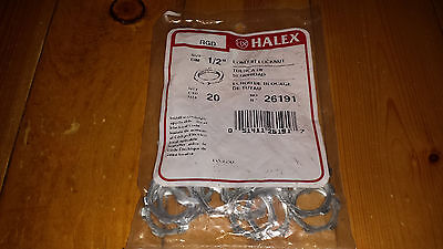 "Halex 26191 20 Count 1/2"" Steel Conduit Locknut"