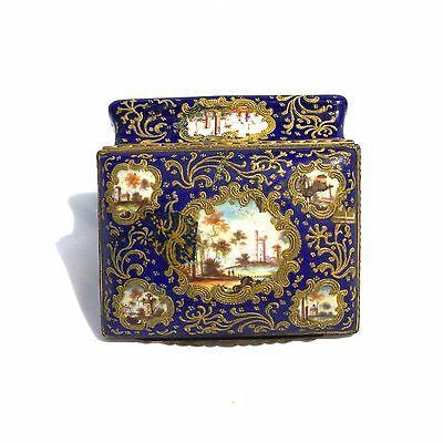 Antique 18 Century French Enamel Box Very Unique, Hand Painted And Rare.