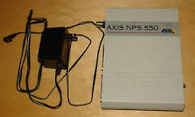 Axis 550 Network Printer Server Parallel Rs-232 Rj45 Bnc Network