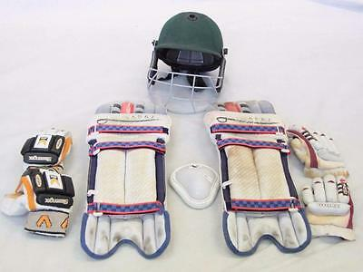 Cricket Gear Pads Sabre 2 Pairs of Gloves Lethal & slazenger Helmet Albion#12238