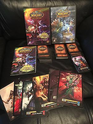 World Of Warcraft Dark Portal & Heroes Of Azerolh Trading Cards  / Free UK Post