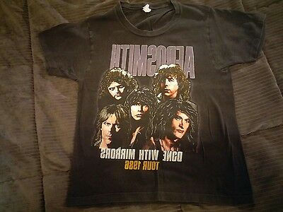 Aerosmith AUTHENTIC concert t shirt Men's S 1986 Done With Mirrors Tour