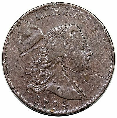 1794 Liberty Cap Large Cent, Head of '94, S-26, VF+ detail