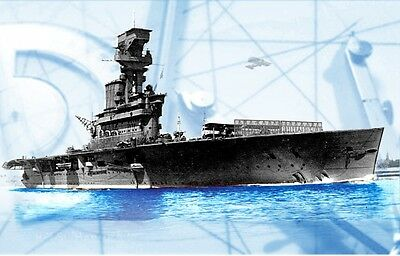 """Model Ship PLANS 1/144 Scale 45"""" Radio Control HMS HERMES Carrier F/S Printed"""