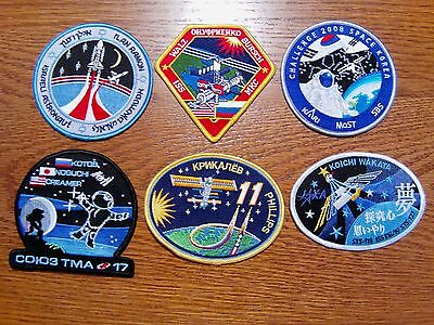 Nasa Patches Foreign, 4 Inch, Lot Of 6, New Old Stock