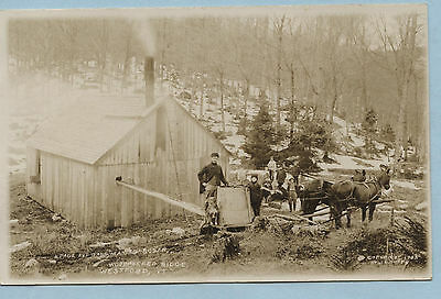 Rppc H Page And Gang Making Sugar Woodpecker Ridge Westford Vt 1908 Maple Photo