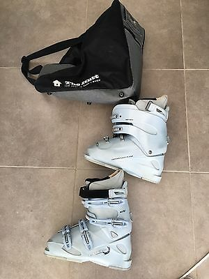 Ladies Ski Boots 26.5. Lange With Carry Bag