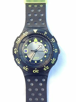 Swatch Scuba Watch 1992 Vintage SDB102 Shamu Black Wave As New