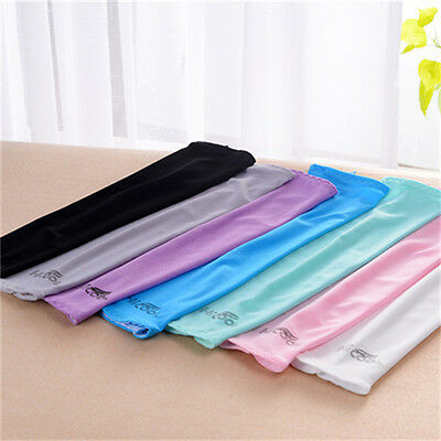 1pair Cooling Sport Skins Sun Protective Arm Sleeves Anti-ultraviolet Cuff