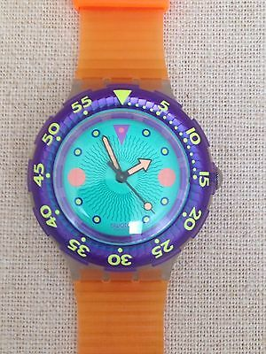 Swatch Scuba Watch 1991 Vintage SDk102 Medusa As New