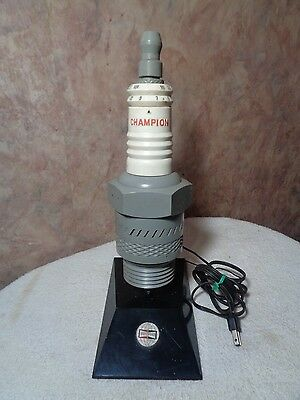 Vintage 1960's Champion Spark Plugs 14'' AM/FM Radio
