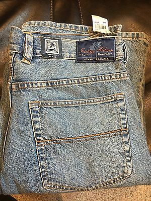 NEW MEN'S TOMMY BAHAMA Indigo Palms Size 32 X 34 Jeans Relaxed Fit Light Wash