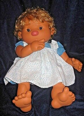 "BABY THUMBS DOLL, LARGE SOFT 20"" THUMBSUCKING BABY by VICMA (Spain)"