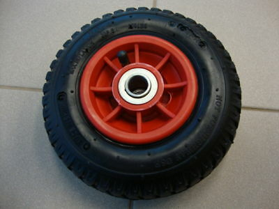 "2 of 8"" PNEUMATIC TROLLEY CARTS WHEELBURROW WHEEL 2.50-4  PLASTIC RIM"