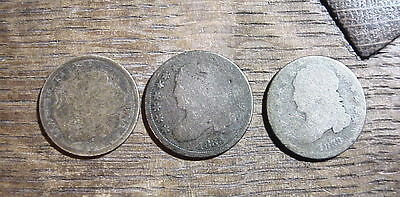 1888 1833 1835 US DIMES 90% Silver COINS Ungraded