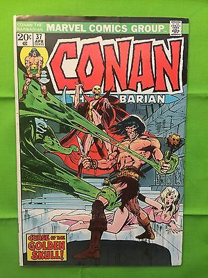 CONAN THE BARBARIAN # 37 (FN+)•NEAL ADAMS Cover & Art•Marvel Value Stamp # 8•