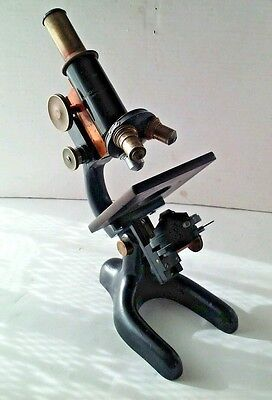 Vintage Bausch & Lomb Optical Co. Microscope, pat. Jan.5,1915, One Int. 0.0025mm