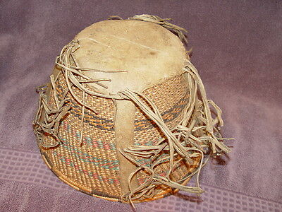 Old Native American Apache Indian Burden Basketc.1890