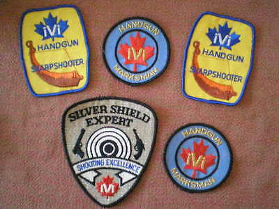 Canadian Handgun Marksman Sharpshooter & Silver Shield Expert Cloth Patches