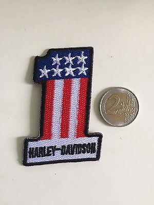 Patch toppa aufnaher Écusson embroidered Harley Davidson  thermocollant 5x7cm