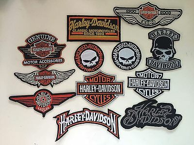 Patch toppa aufnaher Écusson embroidered Harley Davidson X12 thermocollant