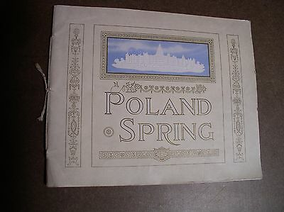 Poland Spring Resort Maine Brochure 1917