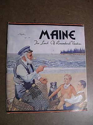 Maine The Land Of Remembered Vacations Brochure 1930s