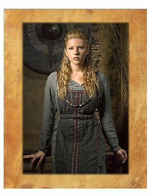 Vikings TV Series, Lagerta Lot 8X10 with parchment background