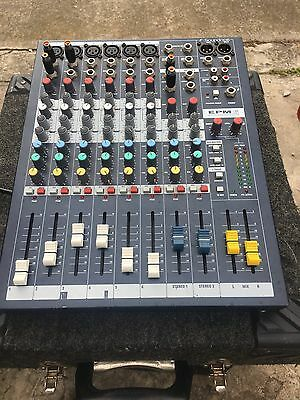 Soundcraft EPM6 6 Channel Compact Mixing Console, Amplifier And Speakers