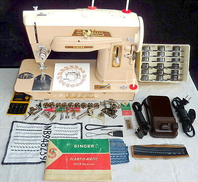Singer 403 Sewing Machine . Loaded . Look@ 25+ photos in DESC . TESTed