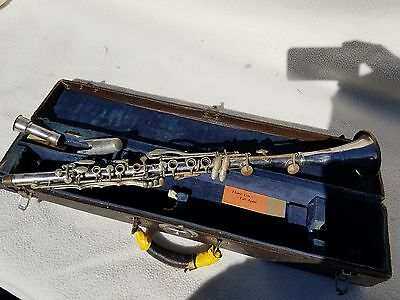 METAL Bb  CLARINET USED PARTS/REPAIR ( Barrel Missing) ser#8827  inv#3035