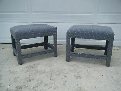 Pair Of Vintage Mid Century Modern Billy Baldwin Inspired Upholstered Benches