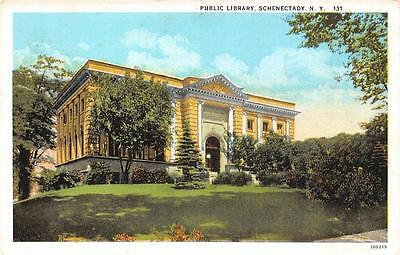 SCHENECTADY, NY  New York         PUBLIC LIBRARY          c1920's Postcard