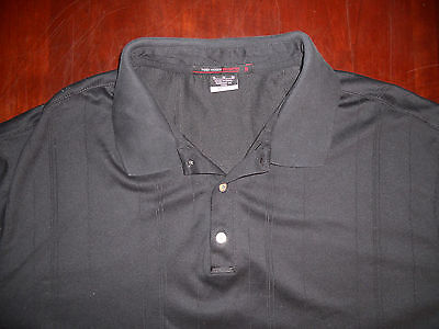 Men's Nike Tiger Woods Collection Long Sleeve Polo Shirt Size XL Black