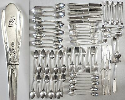 Vintage Oneida Countess II SL& GH Rogers Silverplate Flatware Set 8 Service 84pc