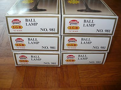 "QTY 6 - MODEL POWER LGB ""G"" Scale BALL LAMPs No.981"