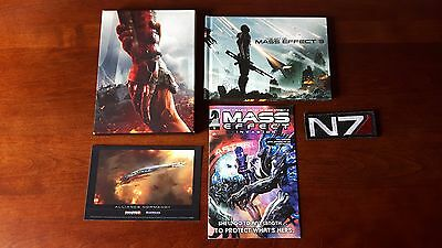 Mass Effect 3 Collector's Edition Comic, Art Book, Postcard, N7 Patch (NO GAME)