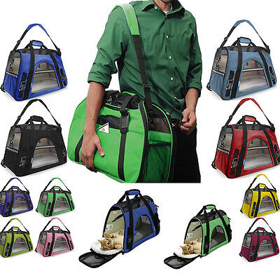Pet Carrier Crates Soft Sided Cat / Dog Comfort Travel Tote Bag Airline Approved