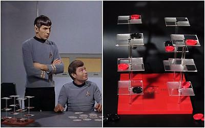 Vintage Star Trek Prop 3D Space Checkers Game