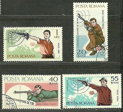 "ROMANIA VERY FINE USED STAMPS SET  "" Shooting Sport """