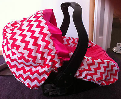 Chevron Hot Pink Baby Capsule Car Seat Cover