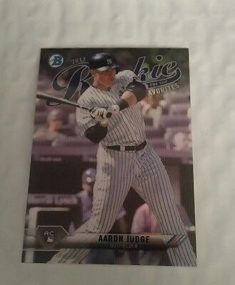 2017 Bowman Rookie of the Year Favorites Chrome Refractor SP Aaron Judge RC NYY