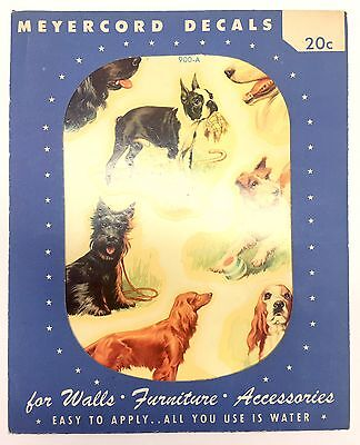 Vintage 1950's Meyercord Decals Stickers Of DOGS New Old Stock